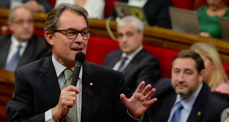 I will not back down on vote: Catalan leader
