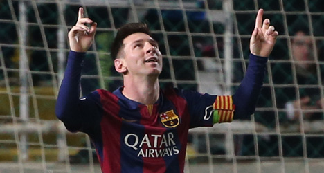 Messi breaks Champions League goal record