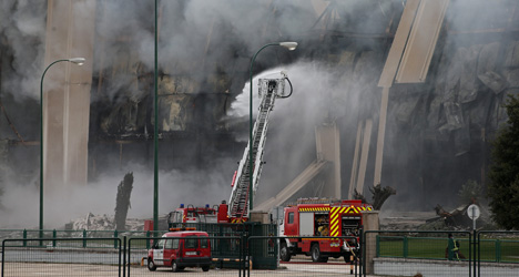 Massive fire wipes out Spanish food factory