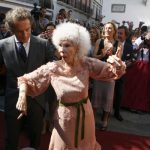 """RIP DUCHESS: She may have been """"just another aristocrat"""" and more famous for her bizarre appearance than her passion for football, flamenco or young husbands, but many Spaniards felt a genuine sense of loss when the Duchess of Alba, aka Maria del Rosario Cayetana Fitz-James Stuart, died at the age of 88 in late November. In a country of very strong personalities, this women — allegedly the world's most titled aristocrat — perhaps came closest to having genuine national treasure status.Photo: STR/AFP"""