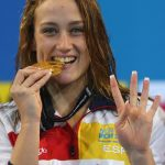 SWIMMING TO GLORY: With all the talk of the failure of Spain's football team at the World Cup, and of the injuries to a certain Rafa Nadal it's all too easy to overlook the brilliant year of Catalan swimmer Mireia Belmonte who clocked up world records at a pace that would put even Usain Bolt to shame. In December alone she notched up two records — in the 200m butterfly and in the 400m medley. A quite incredible year for a quite incredible swimmer.Photo: Marwan Naamani/AFP