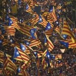 """CATALONIA VOTES: In a drawn-out case of """"Will they, won't they?"""" Spain's Catalan government spent most of the year trying to get permission from Madrid to stage a vote on the independence question in November. Eventually they gave up waiting and went ahead anyway, even if it was just a 'symbolic' vote. On the plus side — for the Catalan leadership at least — 80 percent of voters said yes to independence. On the down side, less than half of people bothered to cast a ballot.Photo: LLUIS GENE / AFP"""