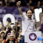 P IS FOR PODEMOS: When the leaders of Spanish political party Podemos (it means 'We can') chose the name of their party in early 2014, they meant it as a wink to the campaign slogan of US President Barack Obama. But the staggering rise of this group of left-wingers has now got plenty of people thinking they might actually have what it takes to pull off an Obama-style victory in Spain's upcoming general elections. Whether or not popularity converts itself into votes, there is no question Podemos will play a major role in deciding who gets to do the post-election fist pump on voting day. Our prediction: Podemos will derail the left-wing Socialists helping the current government to stay in power. Photo: AFP