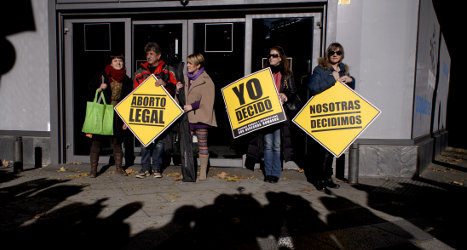 Abortion numbers continue to fall in Spain