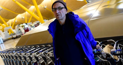 'I came to Madrid airport to sleep and stayed'