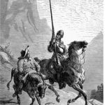 """And finally...DON QUIXOTE AND SANCHO PANZA: They may not be considered a traditionally """"romantic couple"""" but surely Miguel de Cervantes epic tale of the knight-errant and his faithful squire is one of the earliest literary examples of the """"bromance"""". They travelled across the plains of Castilla La Mancha together sharing adventures, the educated and chivalrous aristocrat and his ignorant and cowardly serf.Photo: Wikimedia/Brucker.G Meiners"""