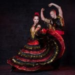 <b>Flamenco attire:</b> The bold polka dot pattern, figure hugging bodice and multiple swirling skirts may look sultry and glamourous but unless you are a professional dancer this is a look to be strictly reserved for the feria when flamenco culture is celebrated in all its foot-stomping glory.Photo: Shutterstock