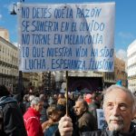 """""""My name is Mariano - but definitely not Mariano Rajoy! The Socialist party today are so different from the Socialist party of the 1970s and 1980s. Back then it was the party of the workers but these days it's just the party of the ninis (people who neither work, nor study)"""" - Mariano, from Madrid. Photo: Sara Houlison"""
