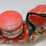 Air investigators released an image on Wednesday of the damaged black box cockpit voice recorder that was recovered from the crash site.Photo: BEA