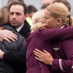 Staff at Germanwings airline were also in morning after losing six members of the team - two pilots and four cabin crew. They held a memorial service on Wednesday morning at the headquarters in Cologne.Photo: AFP