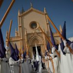 Penitents take part in the Salud brotherhood procession in Málaga. Many brotherhoods are centuries old.Photo: AFP/Jorge Guerrero