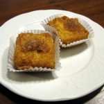 """<b>Leche Frita</b>. Literally """"fried milk"""", this sweet is typical in northern Spain, made by cooking flour with milk and sugar until it becomes firm. It is then topped off with cinnamon and a sugar glaze.Photo: Photo: <a href=""""http://bit.ly/19zzQg1"""">Tirithel</a>/Wikipedia Commons"""