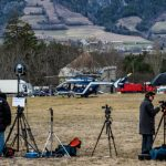 The world's media descend on the village of Seyne-les-Alpes, near to the crash site, reflecting how many countries have been affected by the crash and how the world remains fasinated by aviation disasters.Photo: AFP