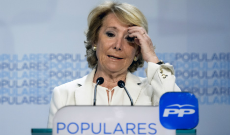 Madrid's Aguirre pleads for anti-Podemos pact