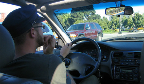 Driver fined for biting fingernails at the wheel