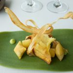 """<b>16. Azurmendi</b>. Located outside of Bilbao, Azurmendi was rated number 16 worldwide. Led by chef Eneko Atxa, the cuisine is praised for its """"boundary-pushing dishes and design"""".Photo: <a href=""""http://bit.ly/1KljSTz"""">Kent Wang</a> / Flickr Creative Commons."""