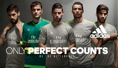 Shade of grey chosen for Real Madrid's new strip