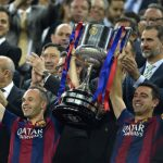 On May 30th, King Felipe cheered on as FC Barcelona beat Atletico Bilbao in the final of the King's Cup (Copa del Rey). Photo: Lluis Gene/AFP
