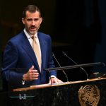 """On September 24th, King Felipe addressed the 69th session of the United Nations General Assembly in New York. During his speech the monarch defended the unity of Spain, saying the country has """"set up a state that protects the diversity of all its citizens and regions"""". Photo: Don Emmert/AFP"""