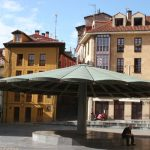 """<b>Plaza del Paraguas, Oviedo.</b>  Rain or shine, the sculpture at the centre of this 'plaza of the umbrella' will protect you from nature's elements. Located in the capital city of Asturias, Oviedo, the plaza was designed like this to provide protection for vendors selling milk.   Photo: <a href=""""http://bit.ly/1GoPyIq"""">Nacho</a> / Flickr Creative Commons."""