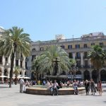 """<b>Plaça Reial, Barcelona.</b> Meaning """"royal plaza"""" in Catalan, this elegant palm tree lined square is just off the bustling La Rambla. Restaurants, bars and shops line the plaza beneath the colonnades, making it especially lively at night.Photo: <a href=""""http://bit.ly/1T94IqK"""">Mathieu Marquer</a> / Flickr Creative Commons."""