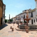 """<b>Plaza del Potro, Córdoba.</b> This plaza may be small, but it has a grand history and remains virtually unchanged by the passage of time. The fountain dates back to 1577 and the location was mentioned by Miguel de Cervantes in Don Quixote.Photo: <a href=""""http://bit.ly/1FOIIaH"""">Américo Toledano</a> / Wikimedia Commons."""