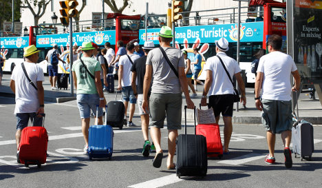 Barcelona says tourists are worse than poverty