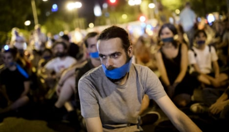 Spain's 'gag law' brought into force amid protests