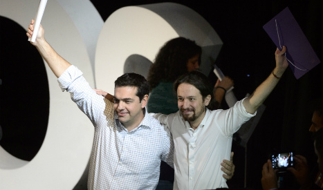 Tsipras says Europe 'can change' if Podemos wins