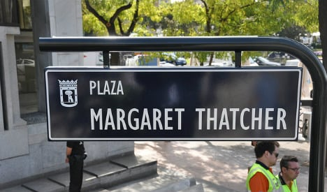Maggie's out as mayor renames Madrid square