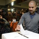 Pep Guardiola, 44, former player and coach of Barcelona has recently thrown his hat into the political ring, announcing his plans to stand as a pro Catalan independence candiate in the upcoming Catalan elections. Photo: Josep Lago/AFP