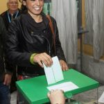 Teresa Rodríguez, 33, was candidate for the regional government of Andalusia for Podemos. Photo: Gogo Lobato/AFP