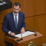 King Felipe VI of Spain delivered a speech at the Mexican Senate in Mexico CityPhoto: Ronaldo Schemidt/AFP
