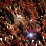The annual San Fermin festival is a symbol of Spanish culture that attracts thousands of tourists.Photo: Ander Gillenea/AFP