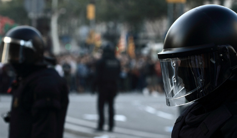 Barcelona police force fail to see the funny side of cardboard cutout cop