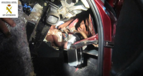 Teenager found squeezed inside car dashboard to cross Spanish border