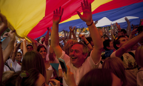 Flag-waving Catalans turn out for rally for independence from Spain