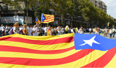 Independence fever and lots of flags as Catalans celebrate National Day