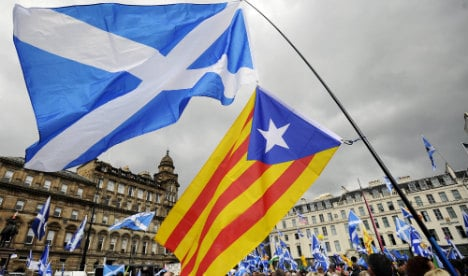 Scottish and Flemish nationalists welcome Catalan separatist victory