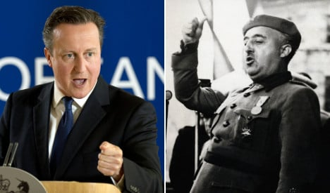 Jeremy Corbyn compares Cameron tactics to those of dictator Franco