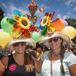 Participants in the Fair of the Pamela, sporting fancy hats, pose in Tejina, on the Spanish Canary island of Tenerife.Photo: Desiree Martin/AFP