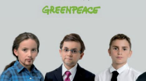 Political candidates given youthful makeovers in Greenpeace campaign