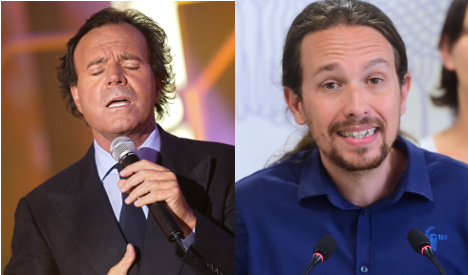 Spot the difference: When Pablo was mistaken for Julio Iglesias