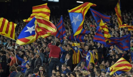 Barcelona to take Uefa to court over fine for Catalan independence flags