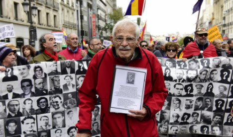 Marchers demand justice 40 years after death of dictator Gen Franco