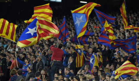 FC Barcelona fans to defy Uefa with massive show of independence flags