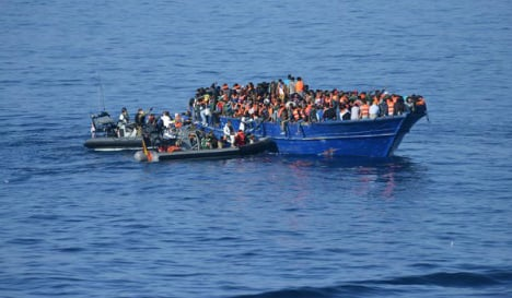 Spanish navy ship rescues over 500 refugees from fishing boat off Libya
