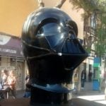 Giant Darth Vader head falls victim to dark forces on streets of Madrid