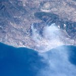 Forest fire near Fuengirola on the Costa del Sol. Photo: Nasa