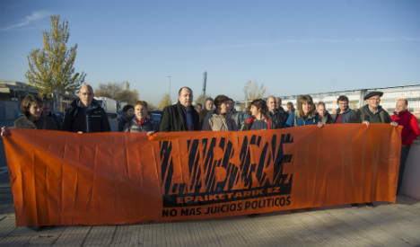 Thirty-five Basque activists accused of links to Eta go on trial in Spain
